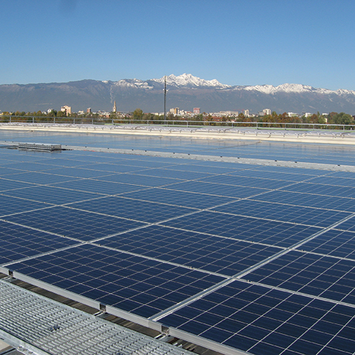 Photovoltaic plant on the headquarter roof