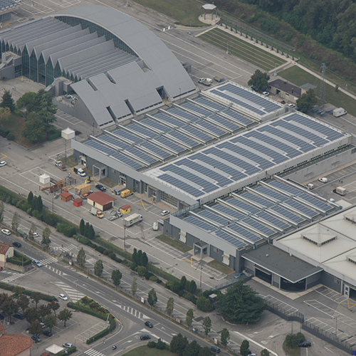 Photovoltaic plant on the exhibition halls