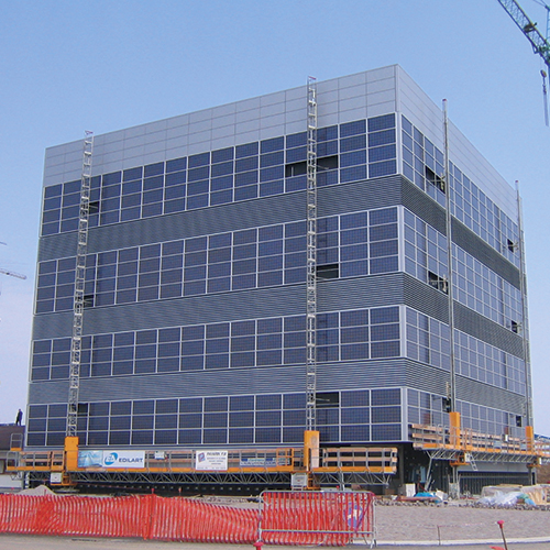 Photovoltaic panles coating for the Civil Protection's headquarter.