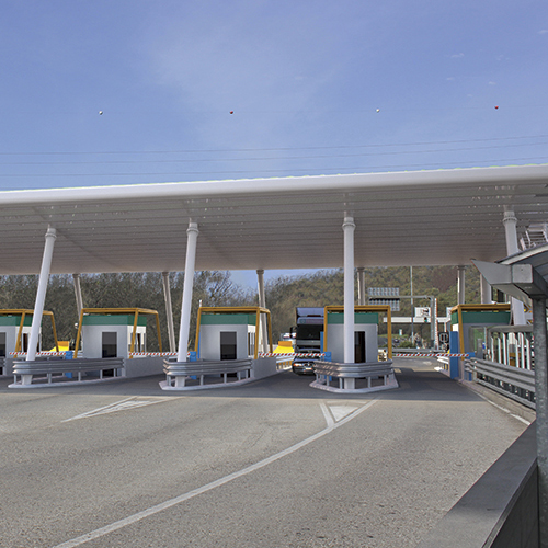 New Highway's toll gate