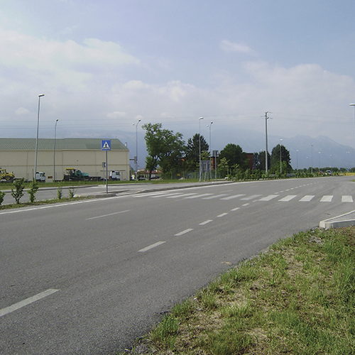 Intersections with roundabouts Aviano NATO Base and the shopping center